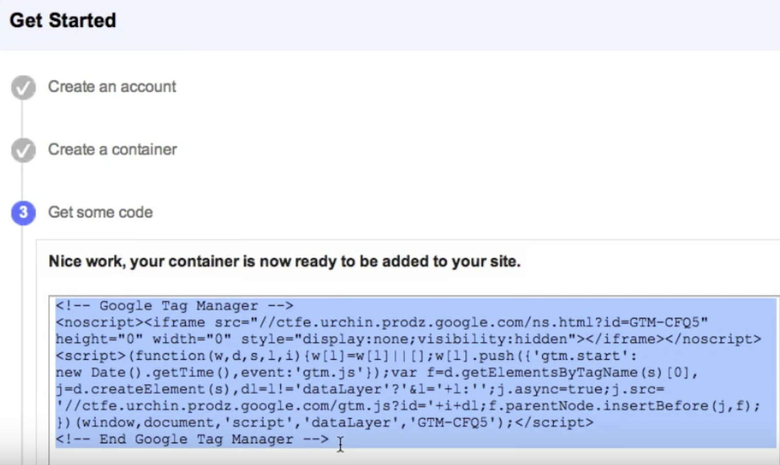 Getting to Grips with Google Tag Manager