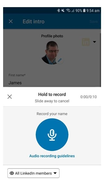 Name Pronunciation on Your LinkedIn Profile