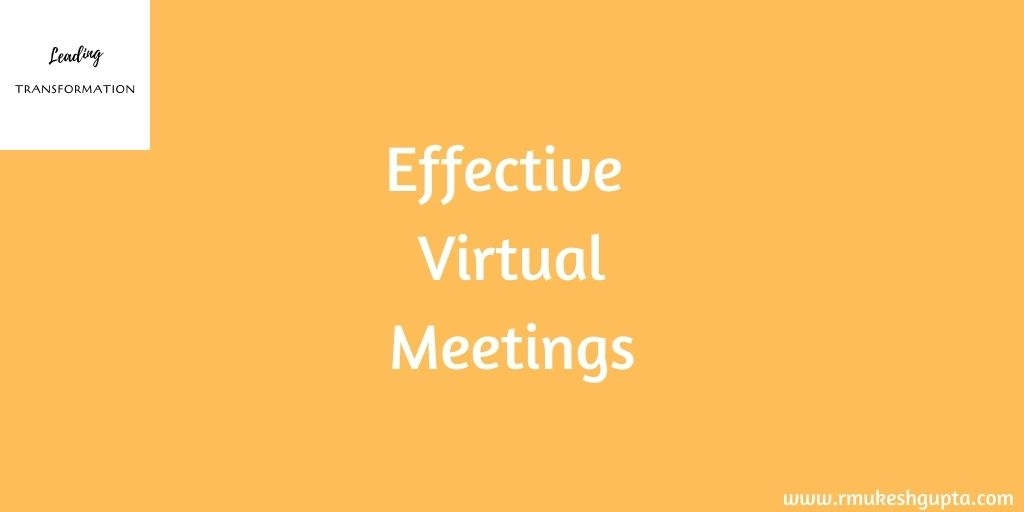 Participating and Hosting Effective Virtual Meetings