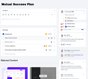 Mutual Success Plans: A Collaborative Approach