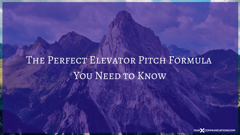 The Perfect Elevator Pitch Formula You Need to Know