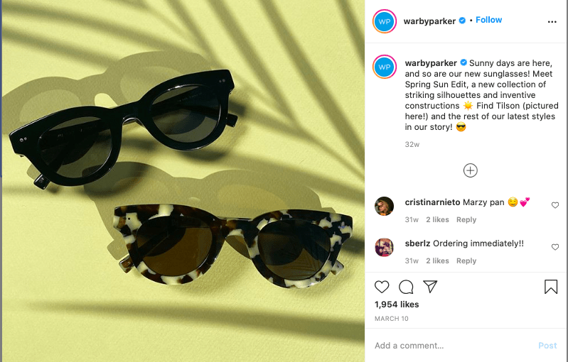 Tagging Products on Instagram.