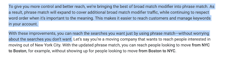 Modified Broad Match Is Going Away: What You Need to Know