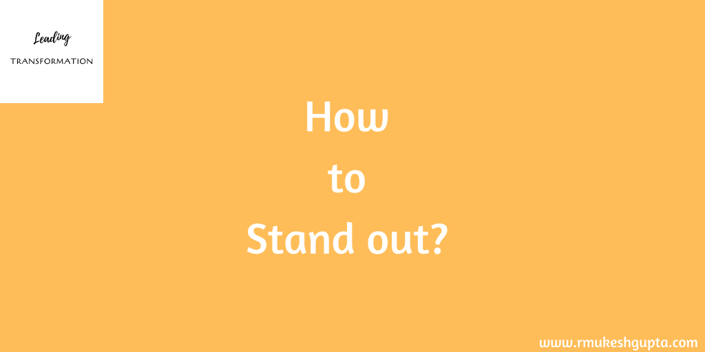 How to Be Different and Stand Out