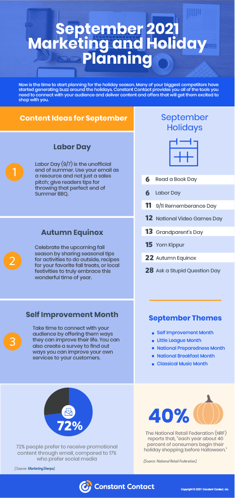 September Holidays and Newsletter Ideas — 2021