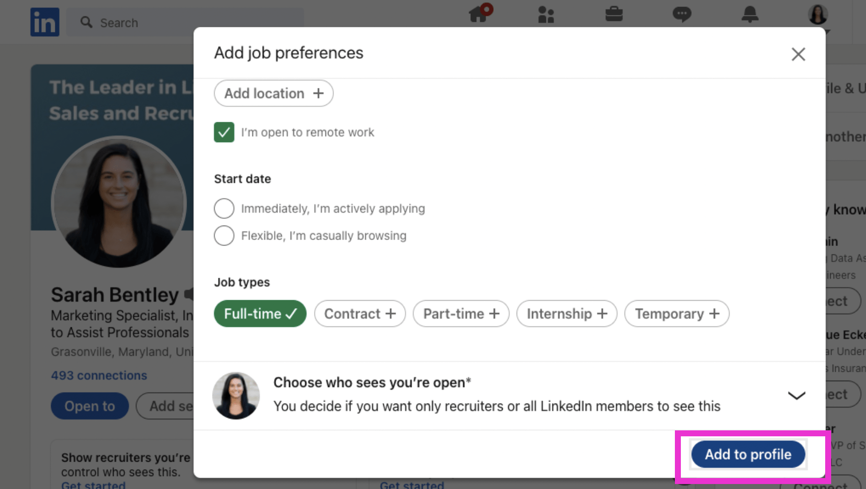 How to Add Job Preferences to Your LinkedIn Profile